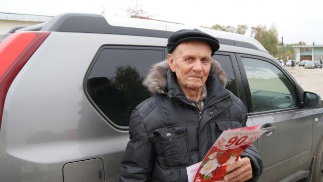 В честь своего 90-летнего юбилея Михаил Павлович Муравьев принимал официальные поздравления