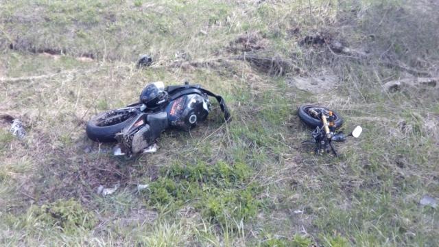 Жуткая авария в Ивановской области, мотоцикл разорвало пополам