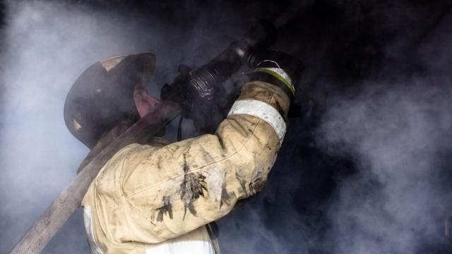 Крупный пожар ликвидирован в Заволжском районе