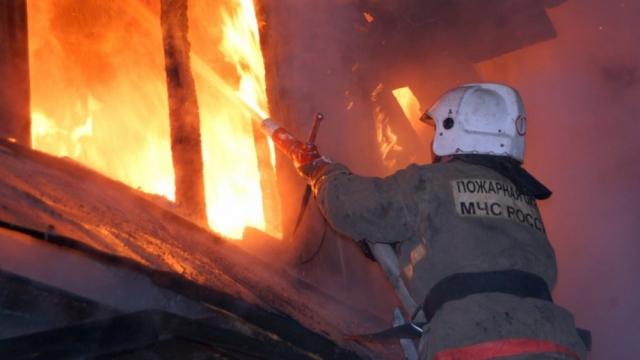 Жилой дом сгорел в Кинешме